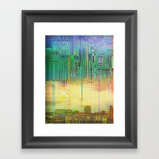 Atlante 19-06-16 / CITIES over CITIES Framed Art Print