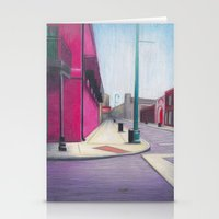 memphis Stationery Cards featuring Memphis Drawing by wendygray