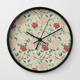 William Morris Cray Floral Pre-Raphaelite Vintage Art Nouveau Pattern Wall Clock
