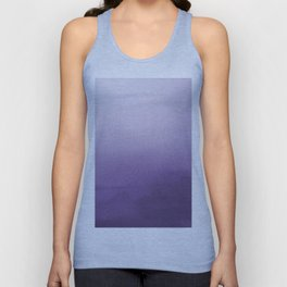 Inspired by Pantone Chive Blossom Purple 18-3634 Watercolor Abstract Art Unisex Tank Top
