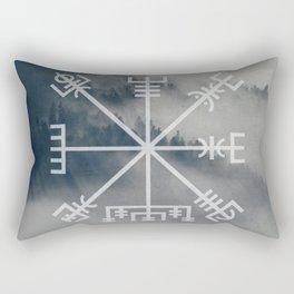 Vegvisir | Forest background Rectangular Pillow