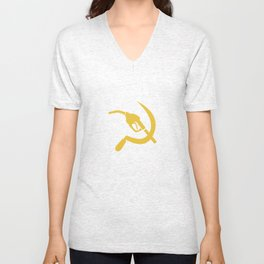 Gas Nozzle and Sickle Unisex V-Neck