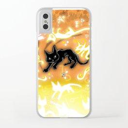 Feline Fire Clear iPhone Case