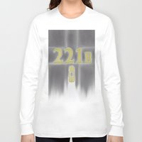 221b Long Sleeve T-shirts featuring Sherlock, 221b Baker Street  by anthony m sennett