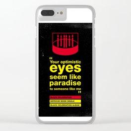 Depeche Black - Your Optimistic eyes - Mode Celebration Clear iPhone Case