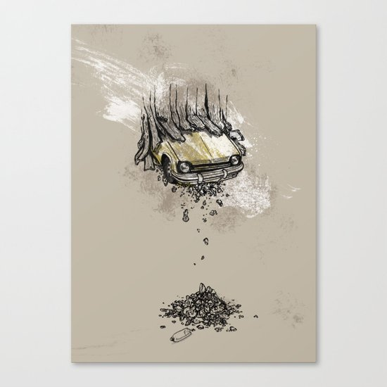 It's here daddy! Canvas Print