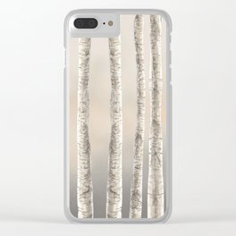 Birches-Winter Clear iPhone Case