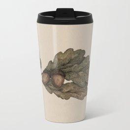 Acorns Metal Travel Mug