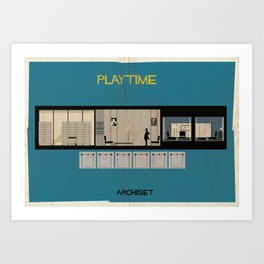 Play time_ Directed by Jacques Tati Art Print