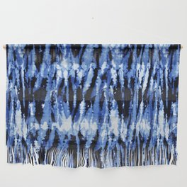 Blue Shibori Z Wall Hanging