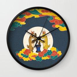 Minhwa: Moon Rabbit B Type Wall Clock