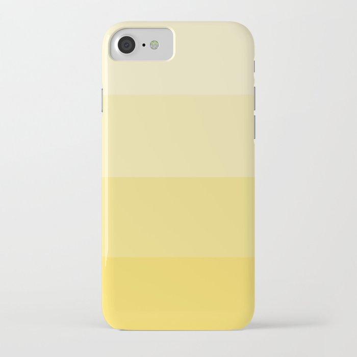 four shades of yellow iphone case