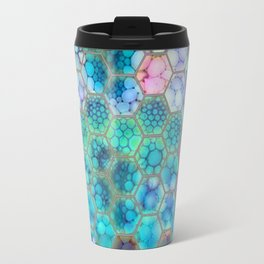 Onion cell hexagons Travel Mug