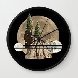 Mr & Mrs Christmas Wall Clock