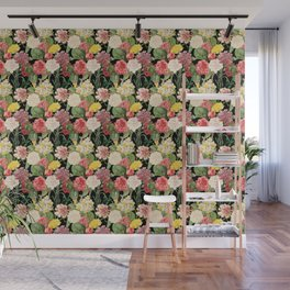 Multicolored Flowers 2 | Vintage Floral Pattern | Flower Patterns | Wall Mural