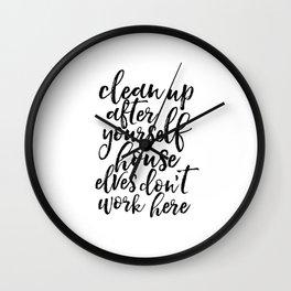 Quote,Kids Room Decor,Nursery Decor,Funny Print,Quote Printable,Typography Print Wall Clock