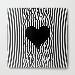 Heart optical illusion #society6 #decor #buyart #artprint Metal Print