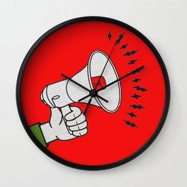 Megaphone propaganda Wall Clock