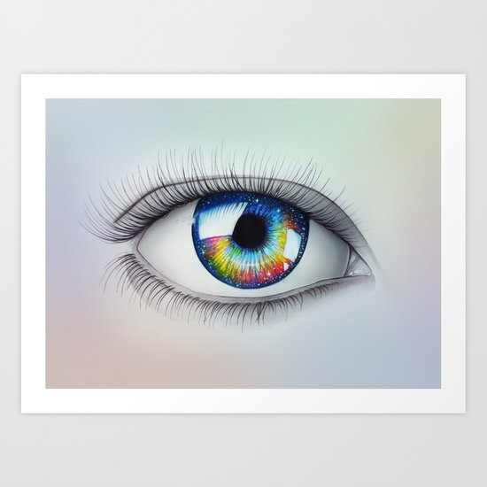 """Universe in your Eyes"" Art Print"