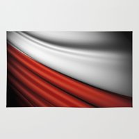poland Area & Throw Rugs featuring flag of Poland by Lulla