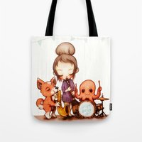 band Tote Bags featuring Jam Band  by FlyOkay