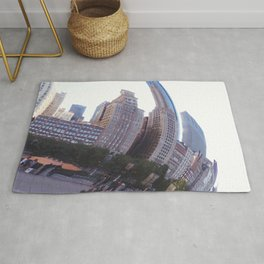 Reflecting, Chicago City in Cloud Gate Rug