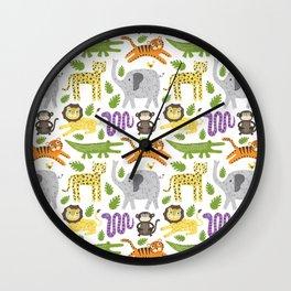 Kids Jungle Design Wall Clock