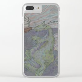 Dreaming Dragon Clear iPhone Case