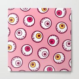 Candy Eyeball Pattern Metal Print
