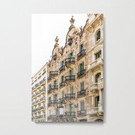 Casa Calvet, Antoni Gaudi Architecture, Barcelona City Print, Urban Details, Spain Landmark, Famous Calvet House Metal Print
