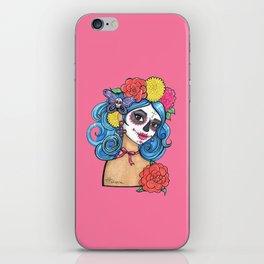 Dia de los Muertos: Sugar Skull Girl iPhone Skin
