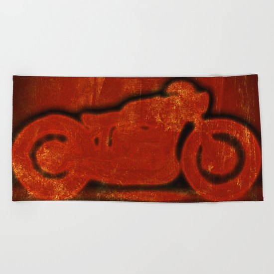 Metalic Red Beach Towel
