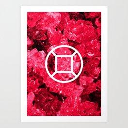 Ruby Candy Gem Art Print