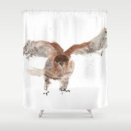 Hawk on the Hunt Shower Curtain