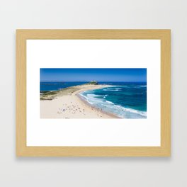 Newcastle, NSW, Australia Newcastle Beach Framed Art Print
