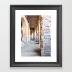 Roman Amphitheatre Arches in Arles. Framed Art Print