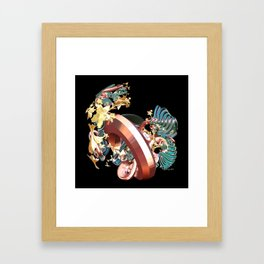 Ring & Flowers Framed Art Print