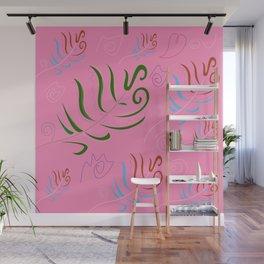 Pink folk artistic design Wall Mural