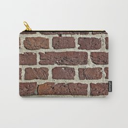 Brick wall gap between bricks are filled with sand and cement Carry-All Pouch