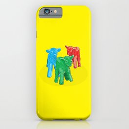 Sour Patch 'Kids' Candy With Baby Goats iPhone Case