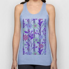 bright floral print. Unisex Tank Top