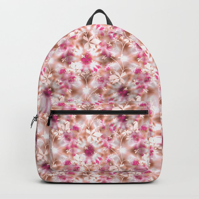 kaleidoscopic background.White and red colors Backpack