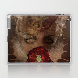 Lady with the red rose Laptop & iPad Skin