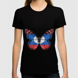 Butterfly Flag Of Laos T-shirt