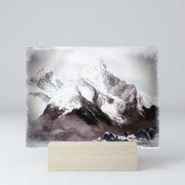 Panoramic View Of Everest Mountain Painting Mini Art Print