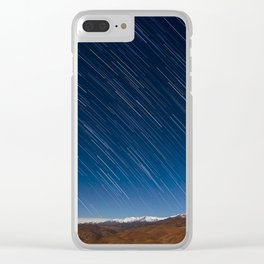 Raining Stars Clear iPhone Case