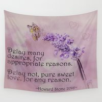 poem Wall Tapestries featuring Valentine's Love Poem by Mary Bellew Imaging