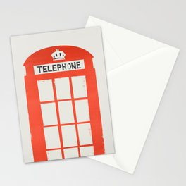 Red London Telephone Box Stationery Cards