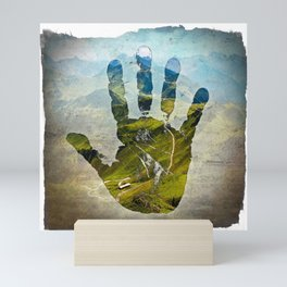 Hand Print Mini Art Print