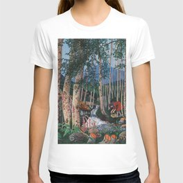 Floxgloves and White Birch amid the Stream landscape by Nikolai Astrup T-shirt